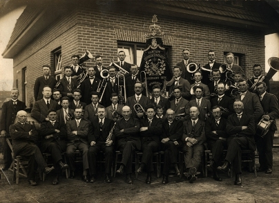 De fanfare in 1928