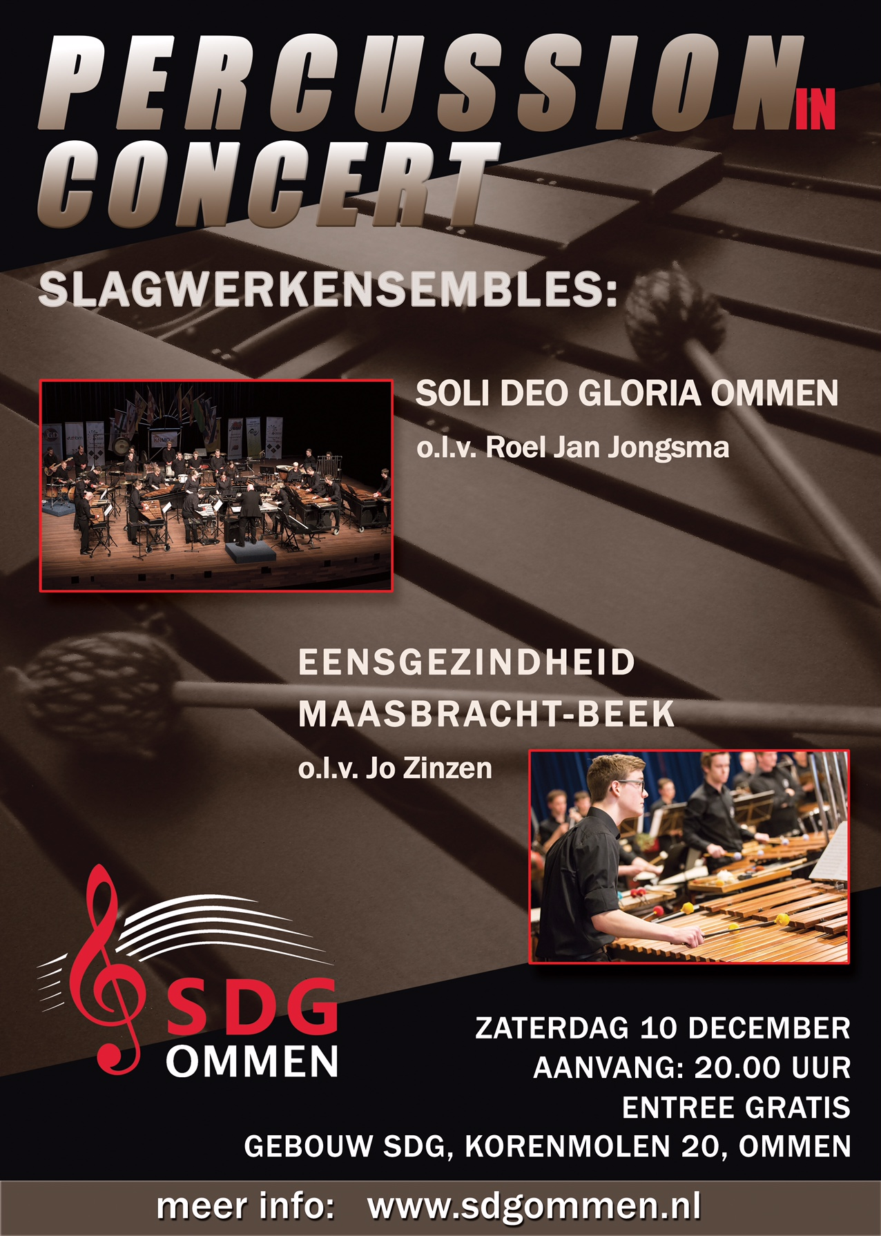 db Poster Percussion in concert