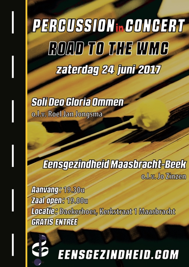 db poster Percussion in concert road to the wmc 24 6 2017